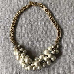 JCrew Pearl & Stone Bauble Necklace